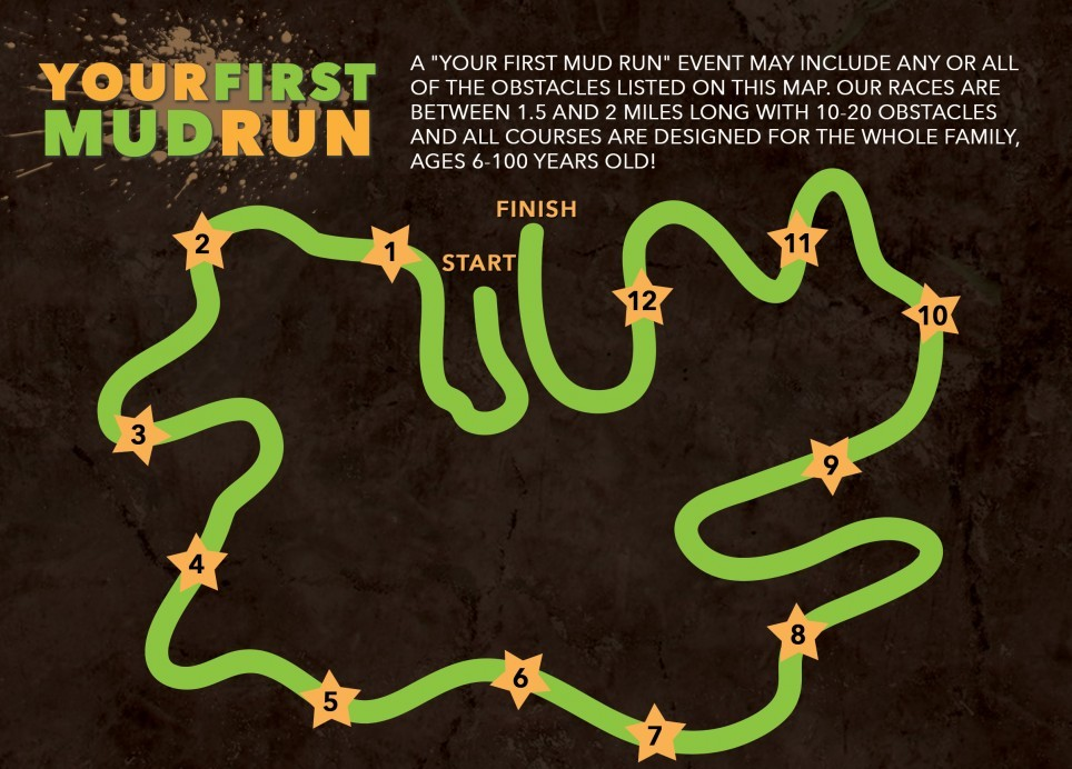 sample mud run event map