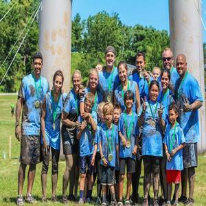 family mud run event in PA
